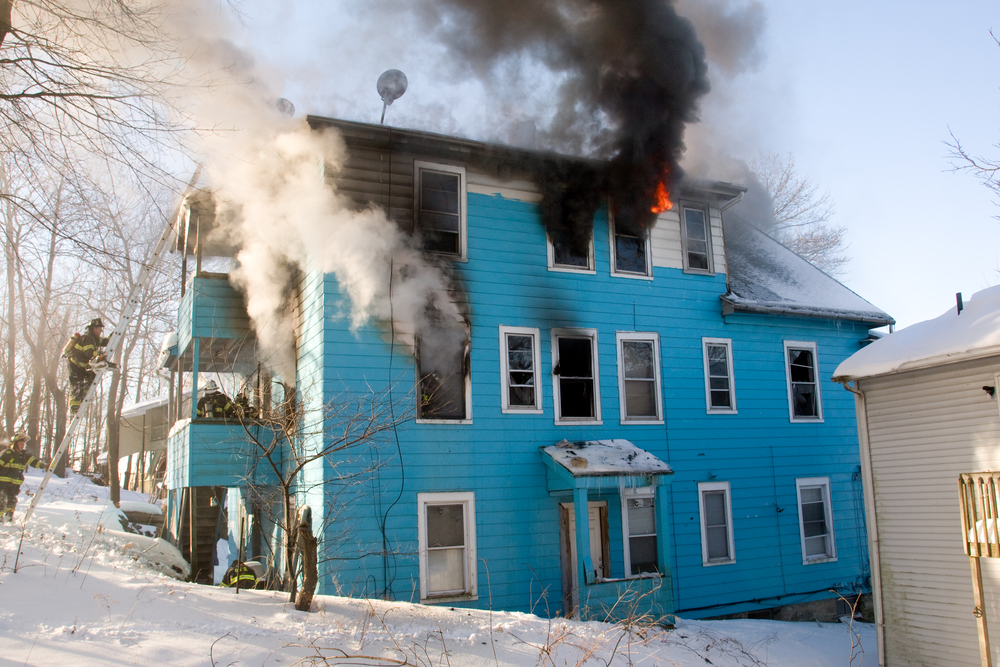 house fire during winter
