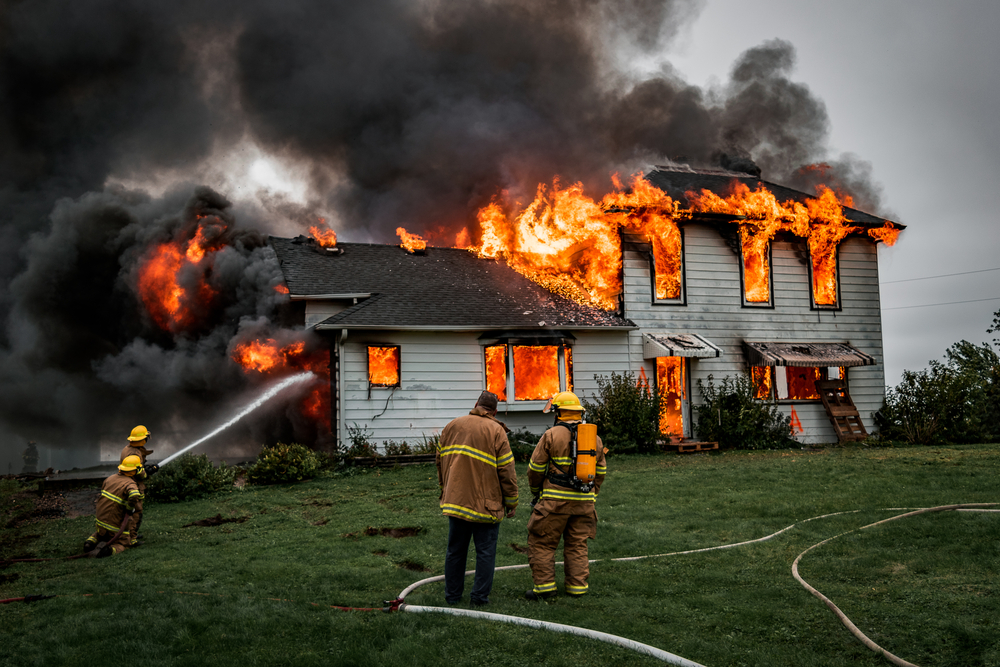 fire on the house