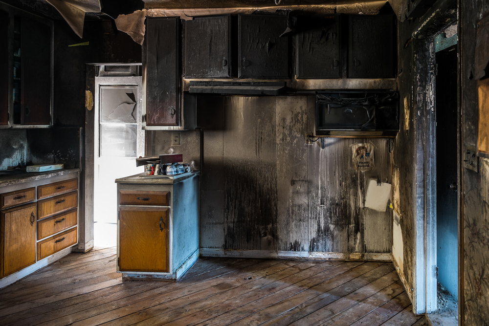 water damage after a house fire